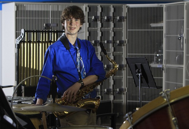 Brandon Bout  is a junior at McCallie School and doesn't let cystic fibrosis affect his ability to play the saxophone for the school's band.