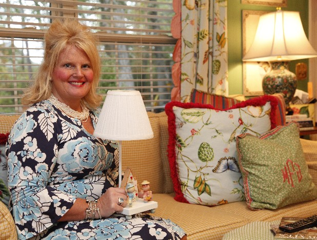 Interior designer Mary Jane Tallant Fitzgerald credits much of her current passions in life to this small vintage lamp that decorated her room as a child.