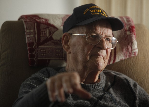 George Allen, sitting in his Cleveland, Tenn., home, was an Army private in Hawaii, peeling potatoes in his barracks, when Pearl Harbor was attacked 70 years ago today.