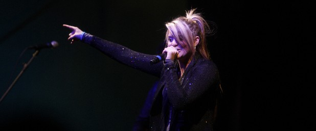 Lauren Alaina performs at Track 29 on Wednesday night. Alaina will be the closing act for Ri