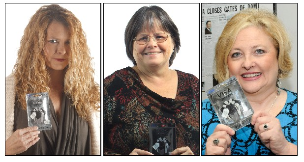 Stacey Swafford, Darlene Jones, and Teresa Kinzalow are seen in these photos. Each won a $500 Visa gift card from the Chattanooga Times Free Press Black Friday contest.