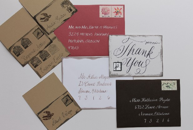 Calligrapher Kate Smith has been creating professionally hand-lettered documents for three years.