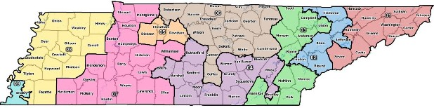 Proposed Congressional Maps Change Tennessee39s 3rd 4th