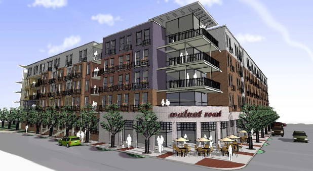 Rendering of Walnut Commons
