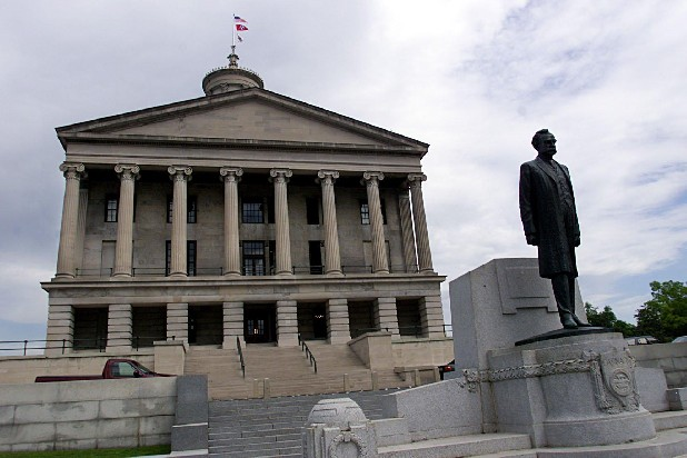 The Tennessee State Capitol in downtown Nashville.