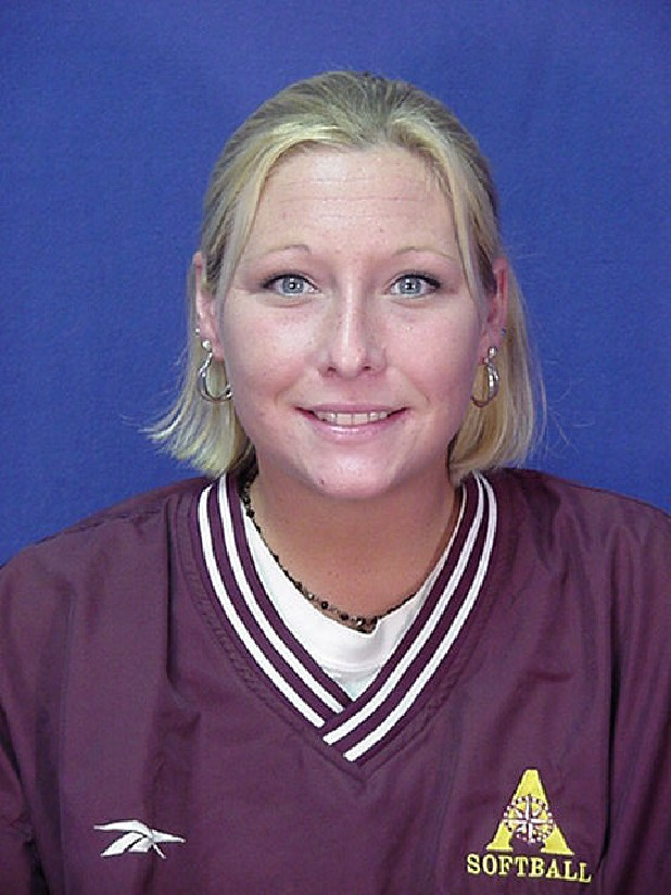 Annie Sells, a former Notre Dame High School softball pitcher going into the Armstrong Atlantic State University Athletic Hall of Fame.