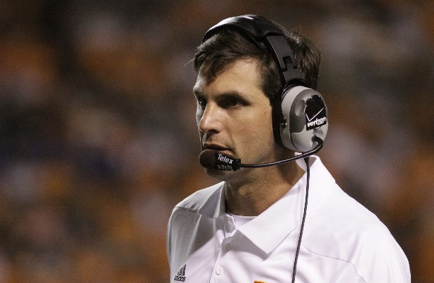 Tennessee's head coach Derek Dooley watches his team as they play against Montana in this file photo.
