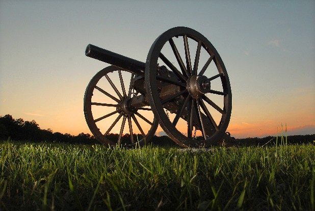 Cannons mark the battlefield atop Snodgrass Hill in the Chickamauga National Battlefield in Fort Oglethorpe.