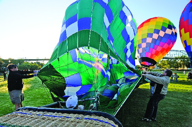 Among RiverRocks' 90 events are tethered hot-air balloon flights at Coolidge Park.