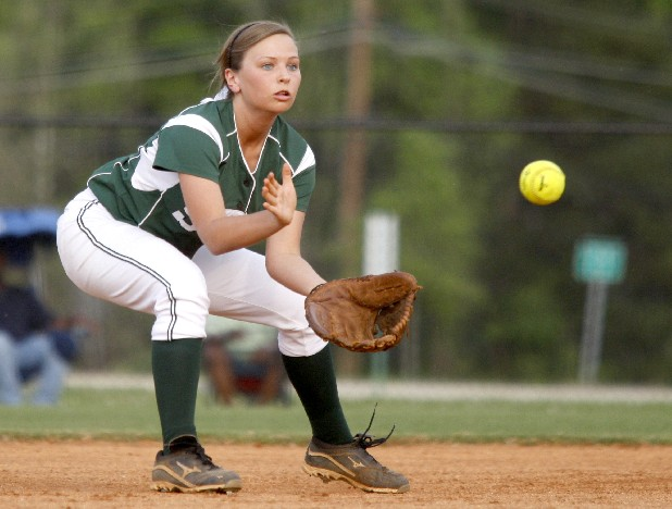 Silverdale Baptist Academy shortstop Bri Leffew fields a ground ball during their game against CSAS at SBA Thursday.