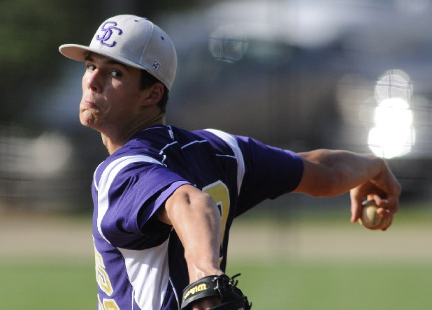 Sequatchie County's Dakota Hudson winds up to pitch at Notre Dame on Tuesday.