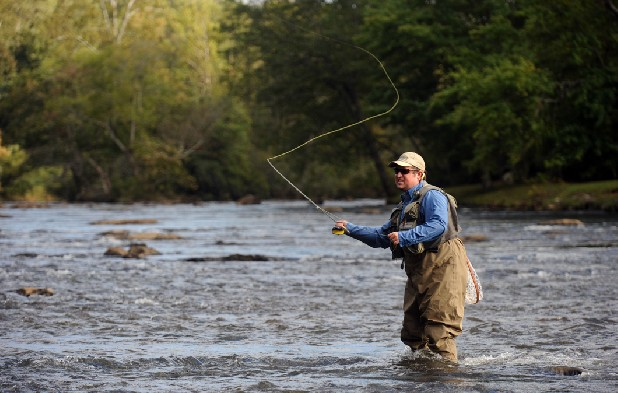 On the trail for trout local news times free press for Best trout fishing in nc
