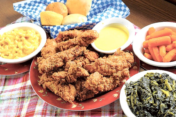Create a family feast with chicken tenders and your choice of more than 25 side items at Country Place. The extensive menu also offers more than a dozen sandwiches.