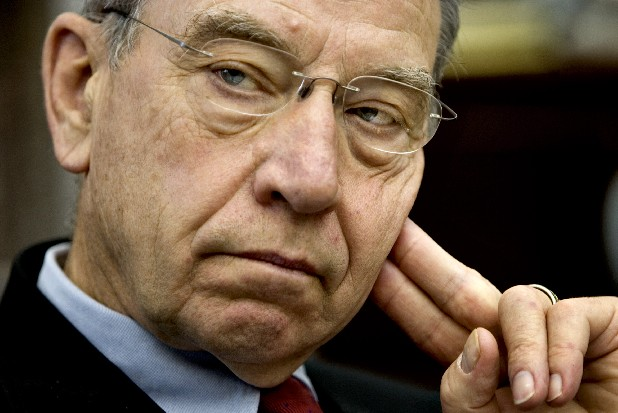 Sen. Charles Grassley, R-Iowa, in this file photo. Grassley informed TennCare Director Darin Gordon in a Jan. 23 letter about possible Medicaid abuse in Tennessee.