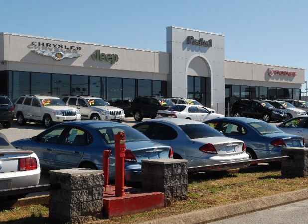 The Prebul dealership on Chapman Road is shown in this 2009 file photo.
