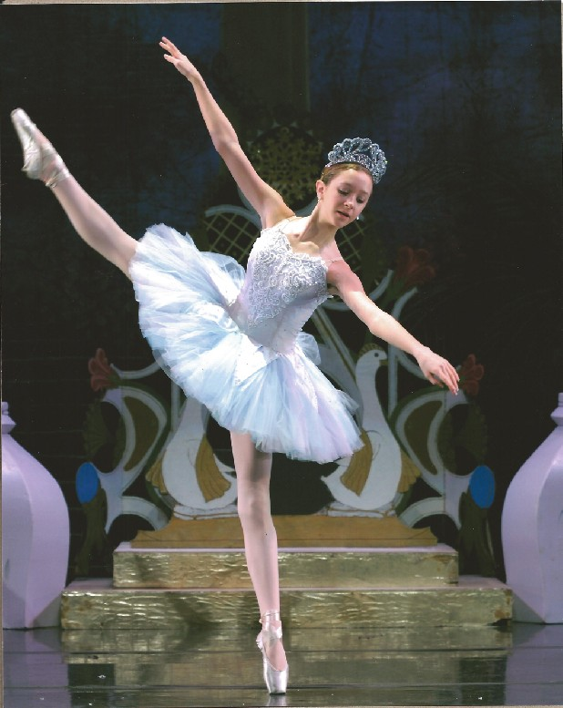 "Candace Ricketts performs the role of Snow Queen in a Ballet Tennessee production of ""The Nutcracker."""