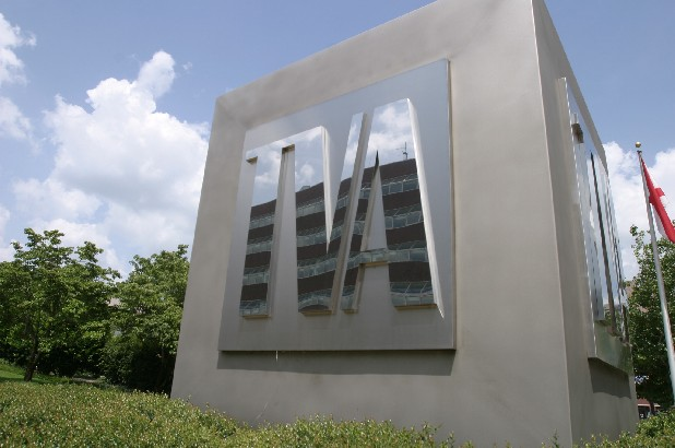 Tennessee Valley Authority headquarters and TVA logo