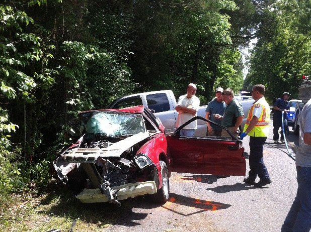 Three cars crashed on a Polk County road, killing one person.