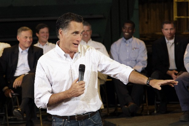 Republican presidential candidate Mitt Romney speaks at Charlotte Pipe and Foundry Co. in Charlotte, N.C., Friday.