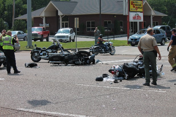 At least one motorcyclist died and another was injured, perhaps fatally, in a collision with a turning car  on U.S. Highway 27 North in Dayton about 3 p.m. Saturday. Dayton Police Chief Chris Sneed said investigators are still gathering information on the crash.