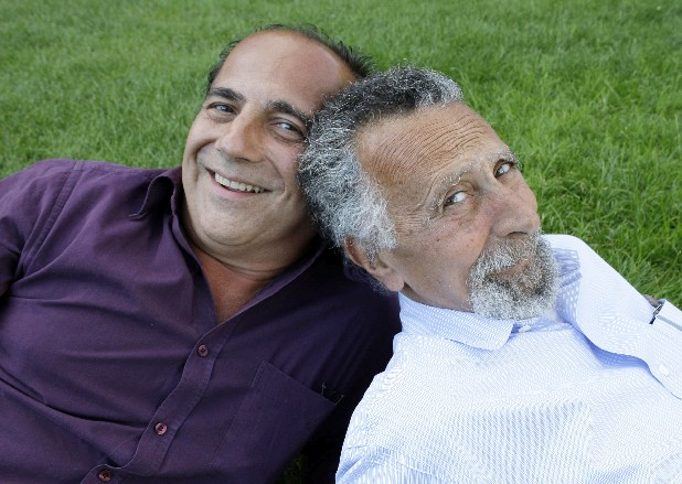 "This June 19, 2008 file photo shows brothers Tom, left, and Ray Magliozzi, hosts of National Public Radio's ""Car Talk"" show, in Cambridge, Mass. The Magliozzi brothers said Friday, June 8, 2012, they will stop making new episodes of their comic auto advice show at the end of September, 25 years after ""Car Talk"" began in Boston. The show airs every Saturday morning and is National Public Radio's most popular program. Older brother Tom is 74 years old and the brothers say it's time to stop and smell the cappuccino. ""Car Talk"" isn't disappearing, however. NPR says repurposed episodes will continue to air every week with material culled from the show's archives. (AP Photo/Charles Krupa, file)"