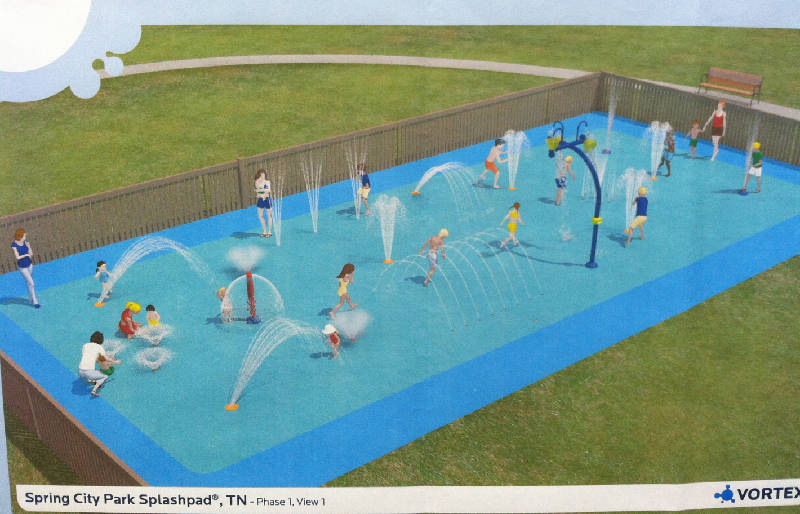 Splash Pad Nearing Completion At Veterans Park In Spring City Chattanooga Times Free Press