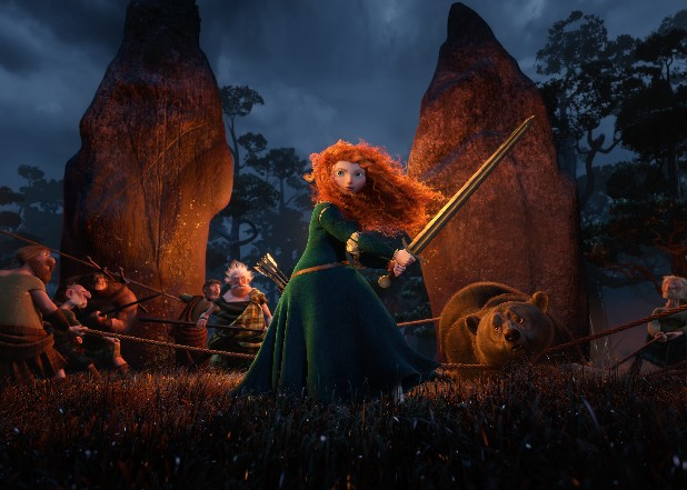 "Princess Merida, (voice by Kelly Macdonald), is shown in the 3D computer animated Disney/Pixar film, ""Brave."" Pixar's first female protagonist, Princess Merida, is determined to forge her own future.  This new breed of big-screen damsel not only reflects the independence — and athleticism — of young women today, but also Hollywood's increasing willingness to tell their stories."