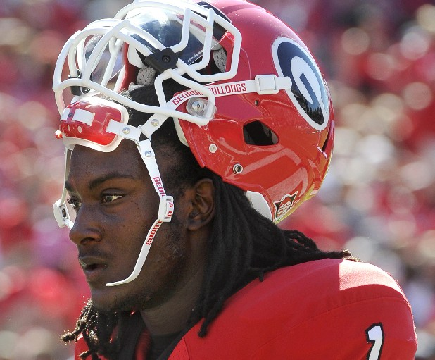Georgia running back Isaiah Crowell has been suspended while he faces gun charges.