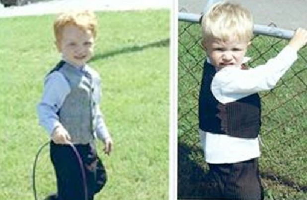 Leland Bates, 5, and River Bates, 3