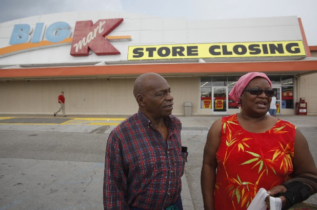 James and Eula Harris talk about their experiences as patrons at the Kmart on Highway 58 on Monday afternoon. The store is closing its doors to customers, some of whom have been shopping there for nearly two decades. The store is the oldest Kmart in Chattanooga.