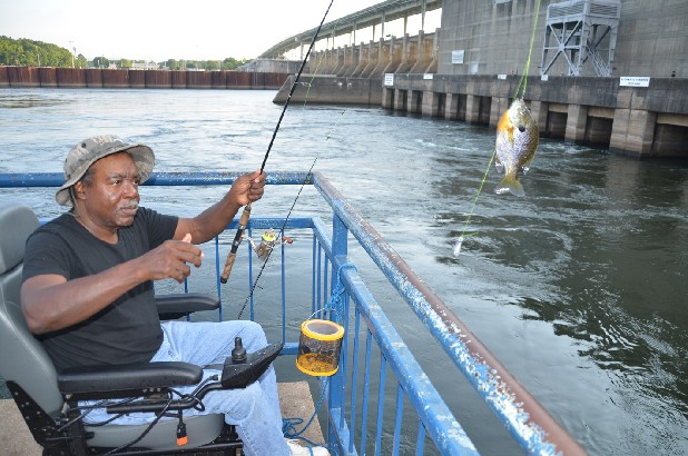 Allen king keeps fishing from wheelchair local news for Fishing kings free