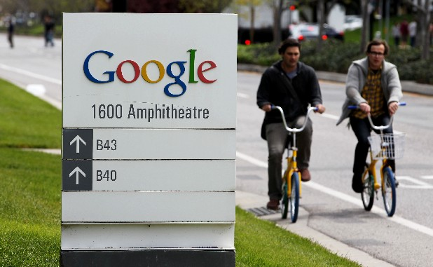 In this Thursday, April 12, 2012, file photo, Google workers ride bikes outside of Google headquarters in Mountain View, Calif. Google Inc. reports quarterly financial results after the market closes on Thursday, July 19, 2012. (AP Photo/Paul Sakuma, File)
