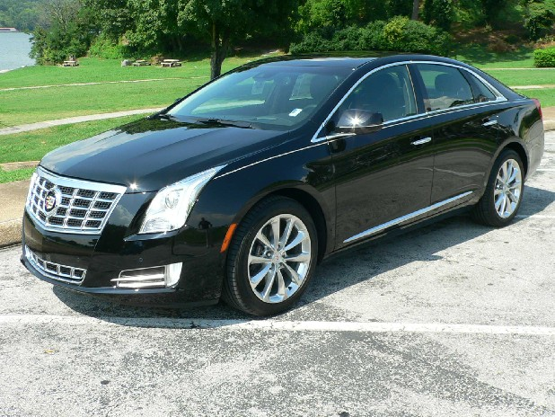 The new Cadillac XTS has a high waistline and interesting chrome embellishments.