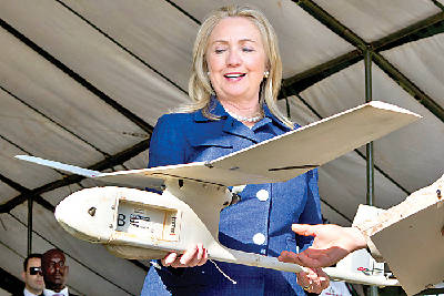 clinton hopes for improved drones to find kony times free press