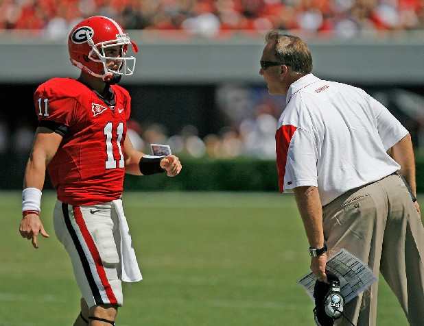 Georgia quarterback Aaron Murray and Bulldogs coach Mark Richt were having to answer questions this time last year about Murray's inability to win big games and Richt's job being in jeopardy.