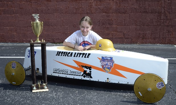 Jessica Little competed in the All-American Soap Box Derby in Akron, Ohio.