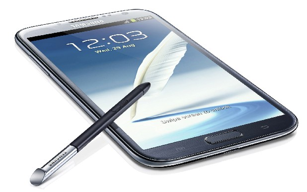 This undated image provided by Samung shows the Galaxy Note II. Samsung, the world's largest maker of phones, announced Wednesday, Aug. 29, 2012, just days after a wounding legal battle with Apple, that the company will be revealing the Galaxy Note II, an offbeat, oversized smartphone that's become a surprise hit.