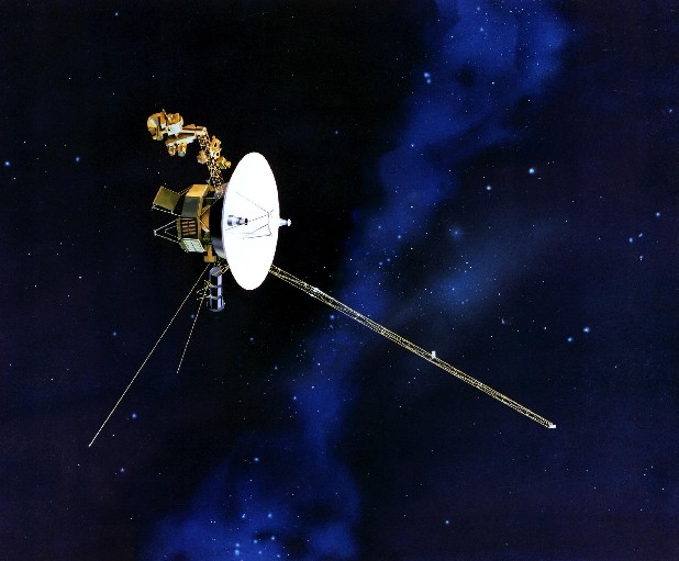 This artists rendering provided by NASA shows the Voyager spacecraft. Launched in 1977, the twin spacecraft are exploring the edge of the solar system. Thirty-five years after leaving Earth, Voyager 1 is reaching for the stars. Sooner or later, the workhorse spacecraft will bid adieu to the solar system and enter a new realm of space - the first time a man-made object will have escaped to the other side. (AP Photo/NASA)