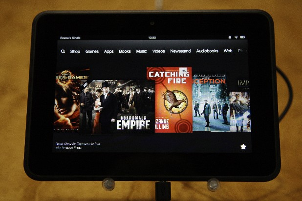 An Amazon Kindle Fire HD is seen on introduction in Santa Monica, Calif., Thursday, Sept. 6, 2012.