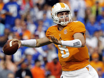 official photos 3203b 614dd Tennessee Vols' Tyler Bray stays cool despite hot start ...