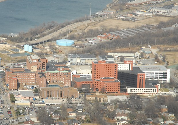 The Erlanger Medical Center is seen in this aerial photo.