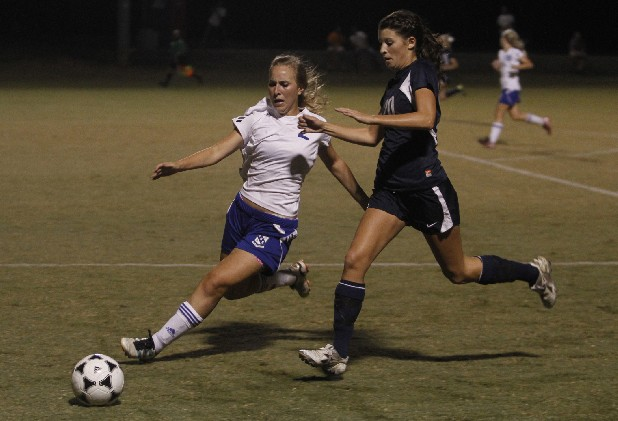 Cleveland's Ashley Valencia, No. 2, moves in against Soddy-Daisy's Miranda Smith Thursday at Cleveland.
