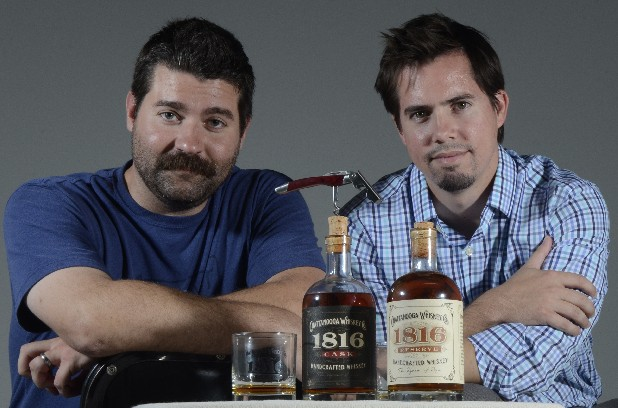 Joe Ledbetter, left, and Tim Piersant are the founders of Chattanooga Whiskey Co.