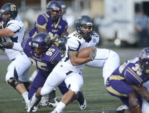 J.J. Jackson of UTC runs against the Western Carolina Catamounts Saturday.