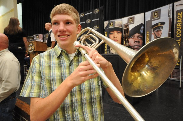 Jamey Critchfield, trombone player in the Bradley Central High School Band, has been selected as a member of the U.S. Army All-American Marching Band, which will play at half time during the U.S. Army All-American Bowl in San Antonio, Texas.