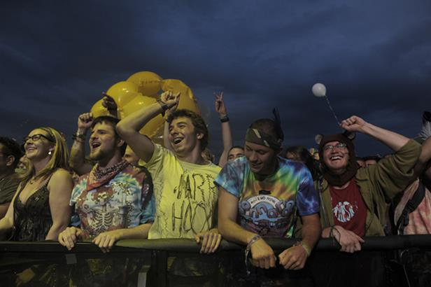 Bonnaroo fans enjoy the show.