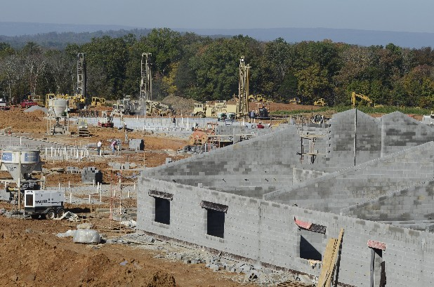 Classroom buildings are beginning to take shape on the new Ooltewah Elementary School.