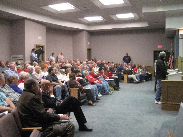 Over 150 people packed the East Ridge City Council meeting Thursday night.