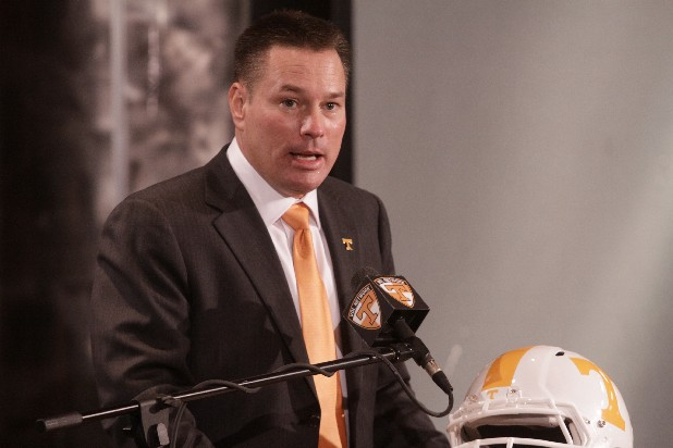 University of Tennessee football coach Butch Jones