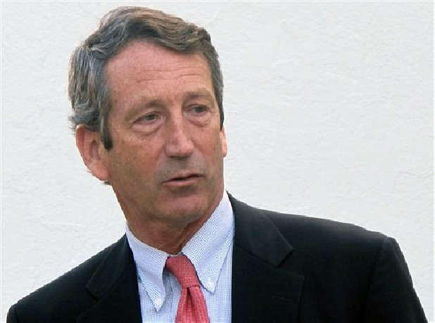Former South Carolina Gov. Mark Sanford leaves a talk Jan. 19 on federal fiscal policy at The Citadel in Charleston, S.C. Sanford a former two-term governor who was a rising GOP star before he vanished from South Carolina for five days in 2009 says he is considering a campaign for his former seat in Congress.